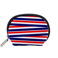 Red White Blue Patriotic Ribbons Accessory Pouches (small)