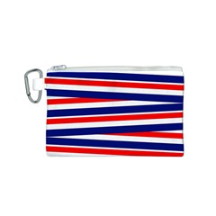 Red White Blue Patriotic Ribbons Canvas Cosmetic Bag (s)