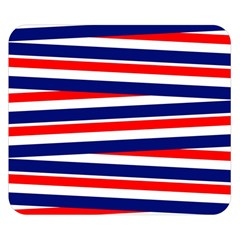 Red White Blue Patriotic Ribbons Double Sided Flano Blanket (Small)