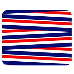 Red White Blue Patriotic Ribbons Double Sided Flano Blanket (Medium)