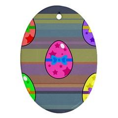 Holidays Occasions Easter Eggs Ornament (oval)