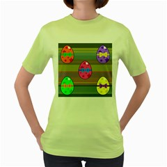 Holidays Occasions Easter Eggs Women s Green T-Shirt
