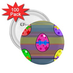 Holidays Occasions Easter Eggs 2 25  Buttons (100 Pack)