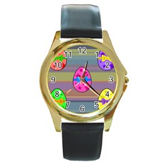 Holidays Occasions Easter Eggs Round Gold Metal Watch