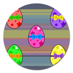 Holidays Occasions Easter Eggs Magnet 5  (round)