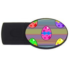 Holidays Occasions Easter Eggs USB Flash Drive Oval (2 GB)