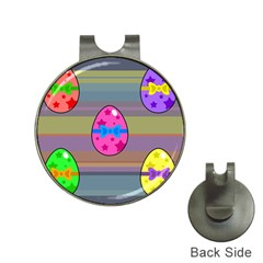 Holidays Occasions Easter Eggs Hat Clips with Golf Markers