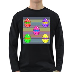 Holidays Occasions Easter Eggs Long Sleeve Dark T-Shirts
