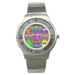 Holidays Occasions Easter Eggs Stainless Steel Watch