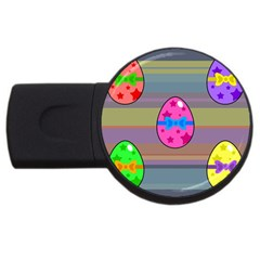Holidays Occasions Easter Eggs USB Flash Drive Round (4 GB)