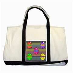 Holidays Occasions Easter Eggs Two Tone Tote Bag
