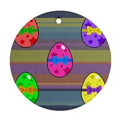 Holidays Occasions Easter Eggs Round Ornament (two Sides)