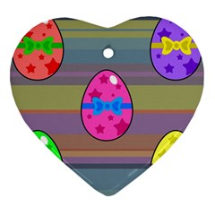 Holidays Occasions Easter Eggs Heart Ornament (Two Sides)