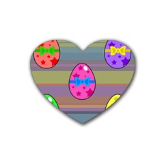 Holidays Occasions Easter Eggs Rubber Coaster (Heart)