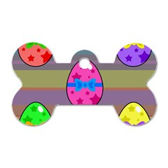 Holidays Occasions Easter Eggs Dog Tag Bone (Two Sides)