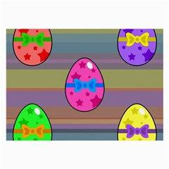 Holidays Occasions Easter Eggs Large Glasses Cloth (2-Side)