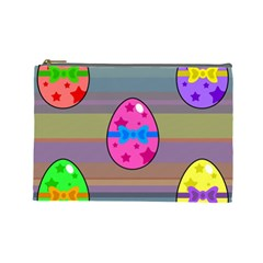 Holidays Occasions Easter Eggs Cosmetic Bag (Large)