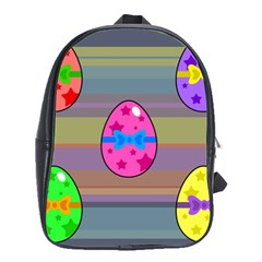 Holidays Occasions Easter Eggs School Bags(Large)