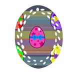 Holidays Occasions Easter Eggs Oval Filigree Ornament (Two Sides) Front