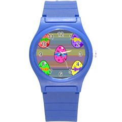 Holidays Occasions Easter Eggs Round Plastic Sport Watch (S)