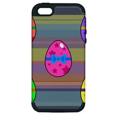 Holidays Occasions Easter Eggs Apple Iphone 5 Hardshell Case (pc+silicone)