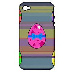 Holidays Occasions Easter Eggs Apple Iphone 4/4s Hardshell Case (pc+silicone)