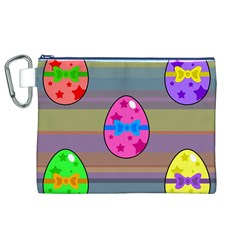 Holidays Occasions Easter Eggs Canvas Cosmetic Bag (XL)