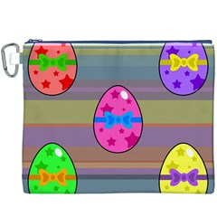 Holidays Occasions Easter Eggs Canvas Cosmetic Bag (xxxl)
