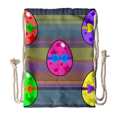 Holidays Occasions Easter Eggs Drawstring Bag (Large)