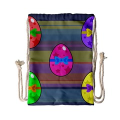 Holidays Occasions Easter Eggs Drawstring Bag (Small)