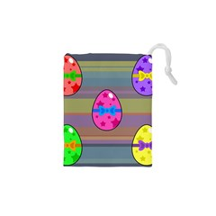 Holidays Occasions Easter Eggs Drawstring Pouches (xs)