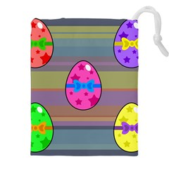 Holidays Occasions Easter Eggs Drawstring Pouches (XXL)