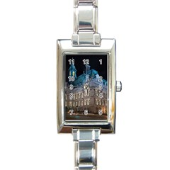 Montreal Quebec Canada Building Rectangle Italian Charm Watch