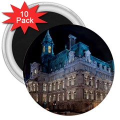 Montreal Quebec Canada Building 3  Magnets (10 pack)