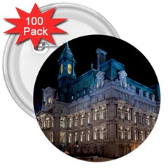 Montreal Quebec Canada Building 3  Buttons (100 pack)