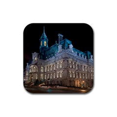 Montreal Quebec Canada Building Rubber Square Coaster (4 pack)