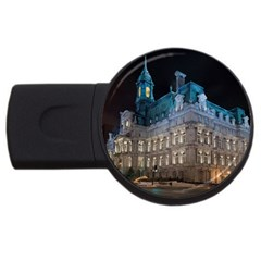 Montreal Quebec Canada Building USB Flash Drive Round (2 GB)