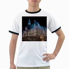 Montreal Quebec Canada Building Ringer T-Shirts