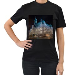 Montreal Quebec Canada Building Women s T-Shirt (Black) (Two Sided)