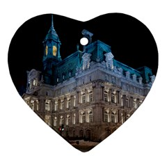 Montreal Quebec Canada Building Heart Ornament (Two Sides)