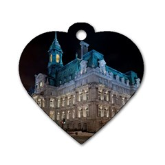 Montreal Quebec Canada Building Dog Tag Heart (one Side)