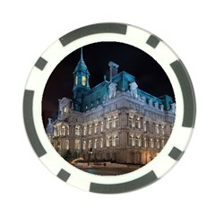 Montreal Quebec Canada Building Poker Chip Card Guard (10 Pack)
