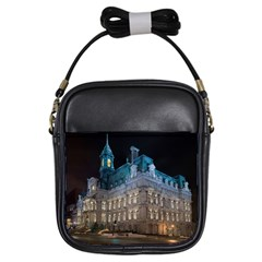 Montreal Quebec Canada Building Girls Sling Bags