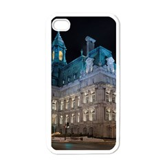 Montreal Quebec Canada Building Apple iPhone 4 Case (White)