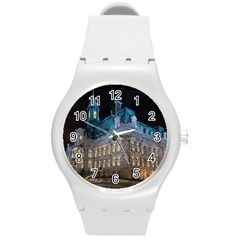 Montreal Quebec Canada Building Round Plastic Sport Watch (m)