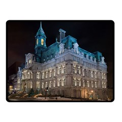 Montreal Quebec Canada Building Double Sided Fleece Blanket (Small)
