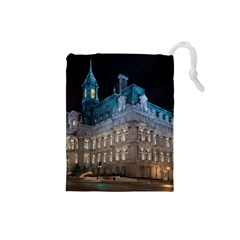 Montreal Quebec Canada Building Drawstring Pouches (Small)