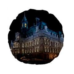 Montreal Quebec Canada Building Standard 15  Premium Flano Round Cushions