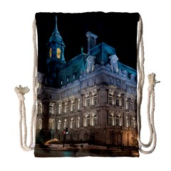 Montreal Quebec Canada Building Drawstring Bag (Large)