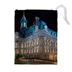 Montreal Quebec Canada Building Drawstring Pouches (extra Large)